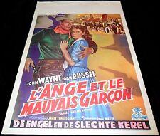 1947 Angel and the Badman ORIGINAL BELGIAN POSTER John Wayne Gail Russell