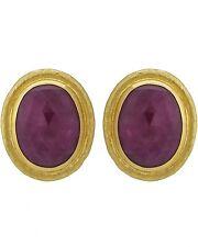 GURHAN - Earrings, 24k Gold with Rosecut Ruby MSRP $11,850