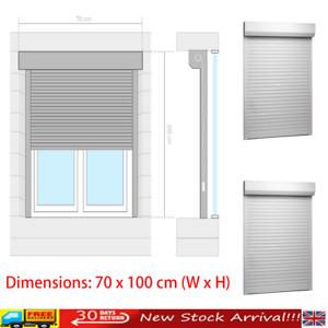 Roller Shutter Heavy Duty Aluminium 70x100cm White Window Blind Shade vidaXL UK