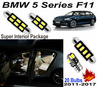 20Bulbs HID White 5630 LED Interior Light Kit For BMW 5 Series F11 Standard Roof