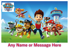 Personalised Kids Childrens A4 Placemat / Dinner Mat With Puzzles Paw Patrol (1)