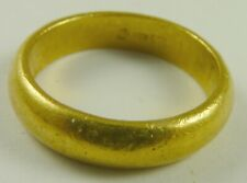 .9999 Chinese Gold Band Ring Size 11.5  pure gold 24k