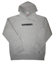 SUPREME NYC Motion Logo Heather Gray Pullover Hoodie Sweatshirt – Men's Size XL