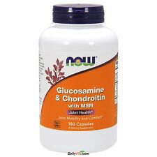 NOW® Glucosamine & Chondroitin plus MSM 180 Capsules, Fresh, Free Shipping