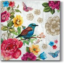 4 x Single Paper Table Napkin/Decoupage/Scrapbooking/Bird of Paradise