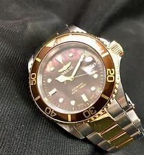 Rare Invicta 4620 Men's Pro Diver Two Tone Brown Swiss SW200 Automatic Watch