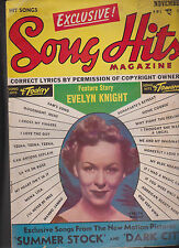 Song Hits Magazine Evelyn Knight Summer Stock Dark City November 1950
