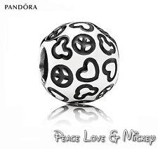 PANDORA Charm Sterling Silver ALE S925 DISNEY PEACE & LOVE MICKEY
