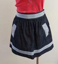 Machine Washable Striped Mini 100% Cotton Skirts for Women