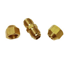 Male Thread Brass Hose Coupling Part Connect Two Female Hoses Together φ6mm