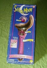 1995 Bandai Sailor Moon Cosmic Crescent Wand with box HTF
