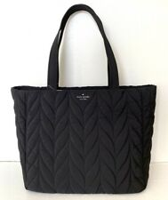 Kate Spade Ellie Large Tote Black Nylon Handbag WKRU5826