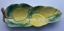 Decorative Long Bowl/Plate with Lemons & Leaf Pattern Country Style 28 x 11 cm