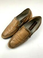 CESARE PACIOTTI Mens Leather Loafers Shoes Made In Italy Slip On Size 9 US