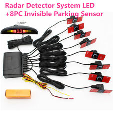 Universal Radar Detector System with LED Display+8PC 16mm Invisible Flat Sensor
