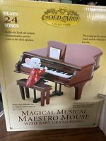 Mr. Christmas Magical Maestro Mouse 12 Sheets Music Animated EUC