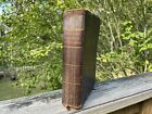 Rare Antique 1842 Leather Bound Book Bowditch's Practical Navigator 13th Edition