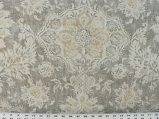 Drapery Upholstery Fabric 100% Cotton Duck Damask-Like Floral - Gray