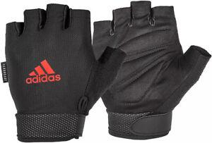 NWT Adidas Women's Climalite Adjustable Essential Training Gloves Half Fingers