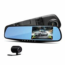 DVR Rearview Mirror Dash Cam Kit - Dual Camera Vehicle Video Recording System