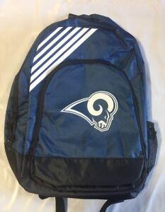 Los Angeles Rams BackPack Back Pack Book Sports Gym School Bag New Border Stripe