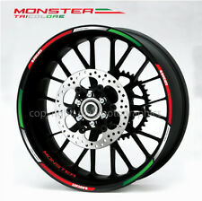 Ducati Monster 696 796 1200 Tricolore wheel decal stickers rim stripes Laminated