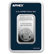 5 oz Silver Bar - APMEX (TEP Packaging)