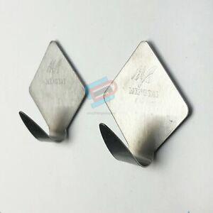 2 x Metal Self Adhesive Hooks Stick on Wall Door Hooks DIAMOND 3m