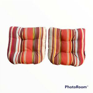 Bed Bath Beyond Indoor / Outdoor Seat Cushions Water Fade Resistant Set Of 2 New