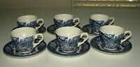 Gorgeous English Ironstone Made in England Coffee Cups & Saucers Set