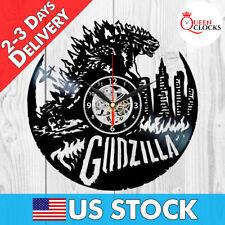 Godzilla Vinyl Record Wall Clock Art Home Room Decor Birthday Christmas Gift Lp