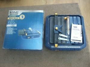 MACALLISTER Wet Tile Cutter Electric MWTC550 USED FOR TWO JOBS ONLY -Orig. Box