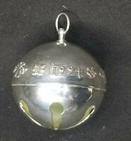 1994 Wallace Silver Plate Annual Sleigh Bell Christmas Tree Ornament Ball No Box