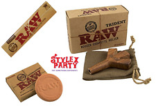 Raw Trident Smoking Papers Holder Bundle Set Classic Rolling Rizla Hydrostone