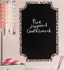 WALLIES CHEETAH CHALKBOARD wall sticker decal pink animal print decor leopard