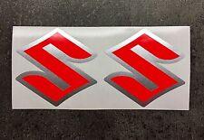 Pegatinas-set 2 piezas para gsxr Suzuki GSX-R 600 750 1000 emblema-nuevo neonrot