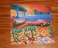 West Coast Rap Vol. 1 Sticker Decal Square Promo 4x4 Rare
