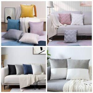 Throw pillow covers Soft Velvet Home Sofa Decoration Cushion Case 2 Pieces 18x18