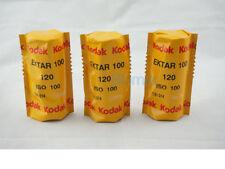 3x KODAK EKTAR 100 ISO 100 120  MEDIUM FORMAT COLOR NEGATIVE FILM FRESH