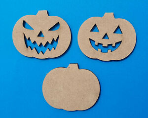 Halloween Wooden MDF Craft Shapes Pumpkin Decoration Spooky Large Big Small