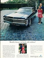 ^ 1965 Chrysler IMPERIAL LeBARON 4-Door Dealer Promotional NOS Card UNUSED VG