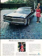 1969 Chrysler Imperial LeBaron Original Advertisement Print Art Car Ad H76