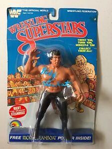 WWF LJN WRESTLING SUPERSTARS RICKY DRAGON STEAMBOAT Figure Autographed WWE MOC