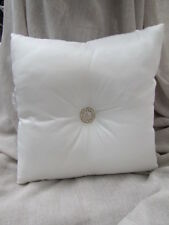 "Gorgeous Nettex ""Bling"" Champagne Satin Diamonte Cushion"