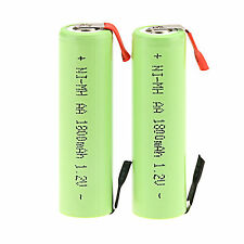 2pcs AA 1.2V 1800mAh Ni-MH NiMH Rechargeable Battery For Electric Shaver Razor