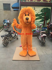 Orange Lion Mascot Costume Adult Male Lion King Wild Animal Carnival Party Dress