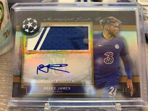 2020-21 Topps Museum Collection REECE JAMES PATCH AUTO /50 CHELSEA TWO COLOR