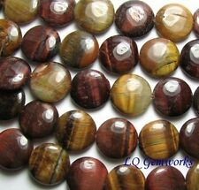 """15"""" RED GOLD TIGER EYE 16mm Coin Beads"""