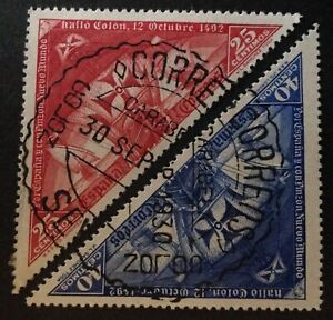 Spain 1930 2 x Stamps vfu