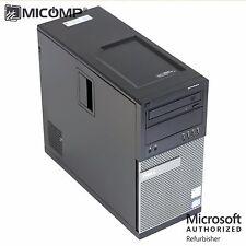 MICOMP Dell 790 Tower Computer PC i5 Quad Core 3.10Ghz 8GB 500GB WiFi Win 10 PRO